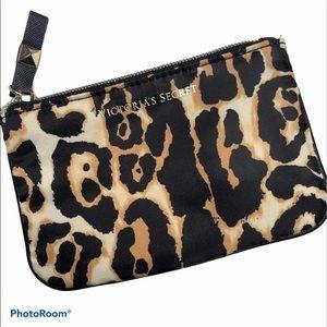 Victoria's Secret Leopard Print Small Cosmetic Bag